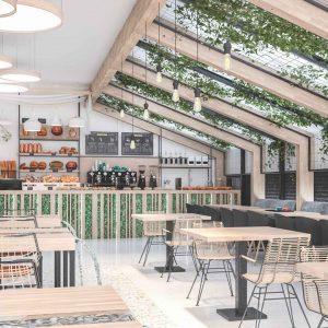 Diseño café Botanique. Madrid