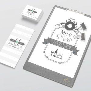 Restaurante Amarantos / Diseño Gráfico